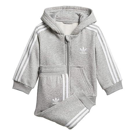 adidas I W TRF FZ Hood - Chándal, Bebé, Gris(BRGRIN/Blanco ...