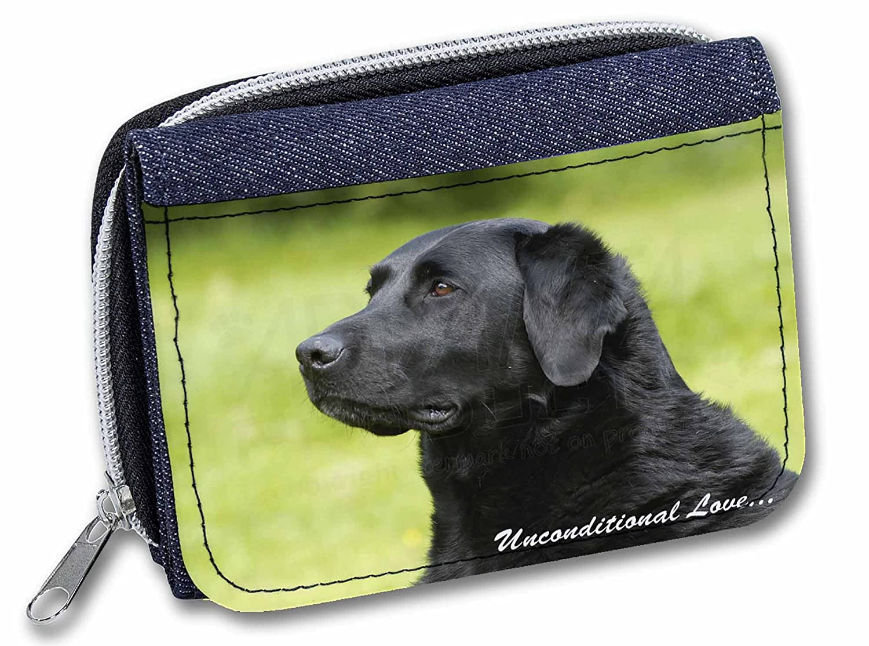 Black Labrador-With Love Girls//Ladies Denim Purse Wallet Christmas Gif AD-L1uJW