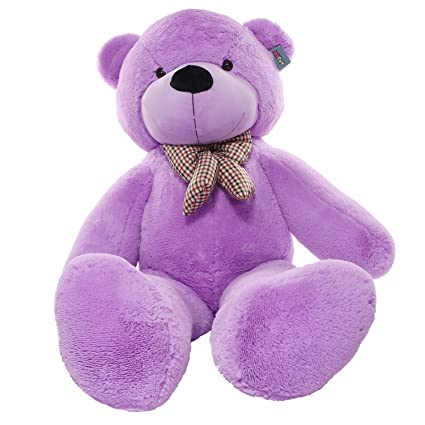 Amazoncom Joyfay Purple Giant Teddy Bear Big Teddy Bear 63 Inches