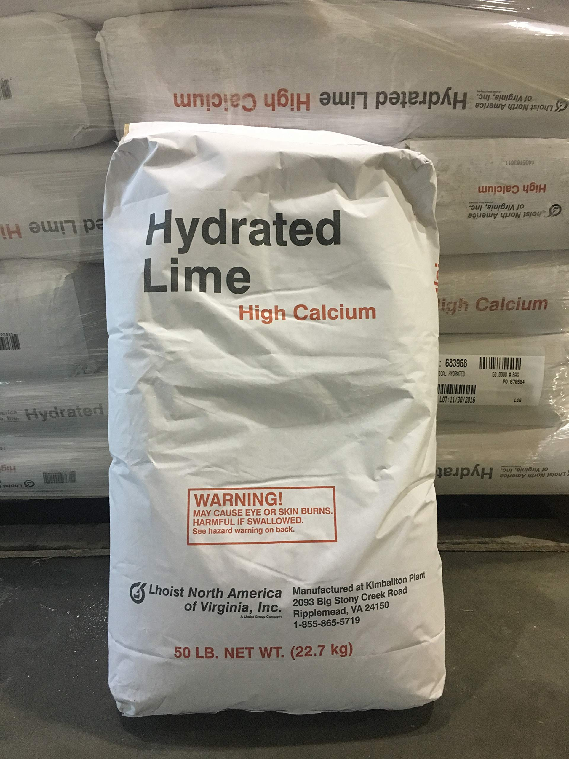 Calcium Hydroxide Minimum 99% purity! 50LB BAG
