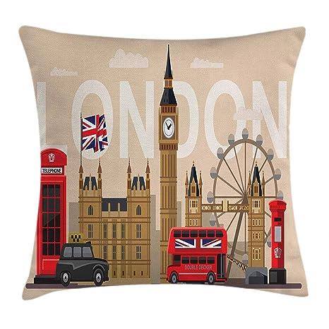Londres Funda de cojín Almohada Famosas Series Gran Bretaña ...