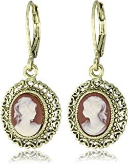 product image for 1928 Jewelry Vintage-Inspired Escapade Carnelian Drop Earrings