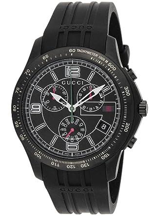 super popular c4597 7c57b Amazon | [グッチ]GUCCI 腕時計 Gタイムレス ブラック文字盤 ...