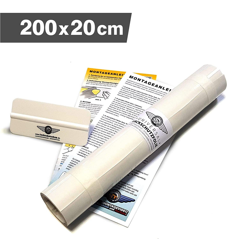 Lackschutzshop Lackschutzfolie Schutzfolie Klebefolie schwarz matt universal 100x1000mm selbstklebend 150/µm