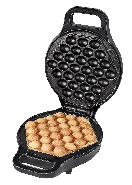 Antihaftbeschichtung Anthrazit Team Kalorik TKG EWM 1001 Kantonesischer Eierwaffelb/äcker f/ür Original Egg Puffs Metall Kunststoff