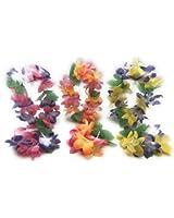 Mahalo Floral Leis Headband and Wrist set ( Set of 12 )