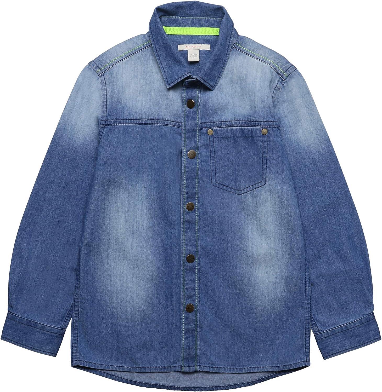 Esprit Kids Shirt Blusa, Azul (Medium Wash Denim 463), 116 (Talla del Fabricante: 116+) para Niños: Amazon.es: Ropa y accesorios