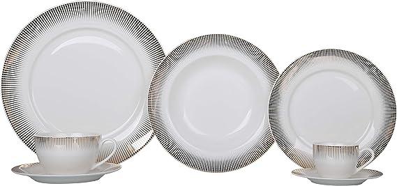 Aparelho de Jantar Normandia 42 Peças em Porcelana L'Hermitage Branco