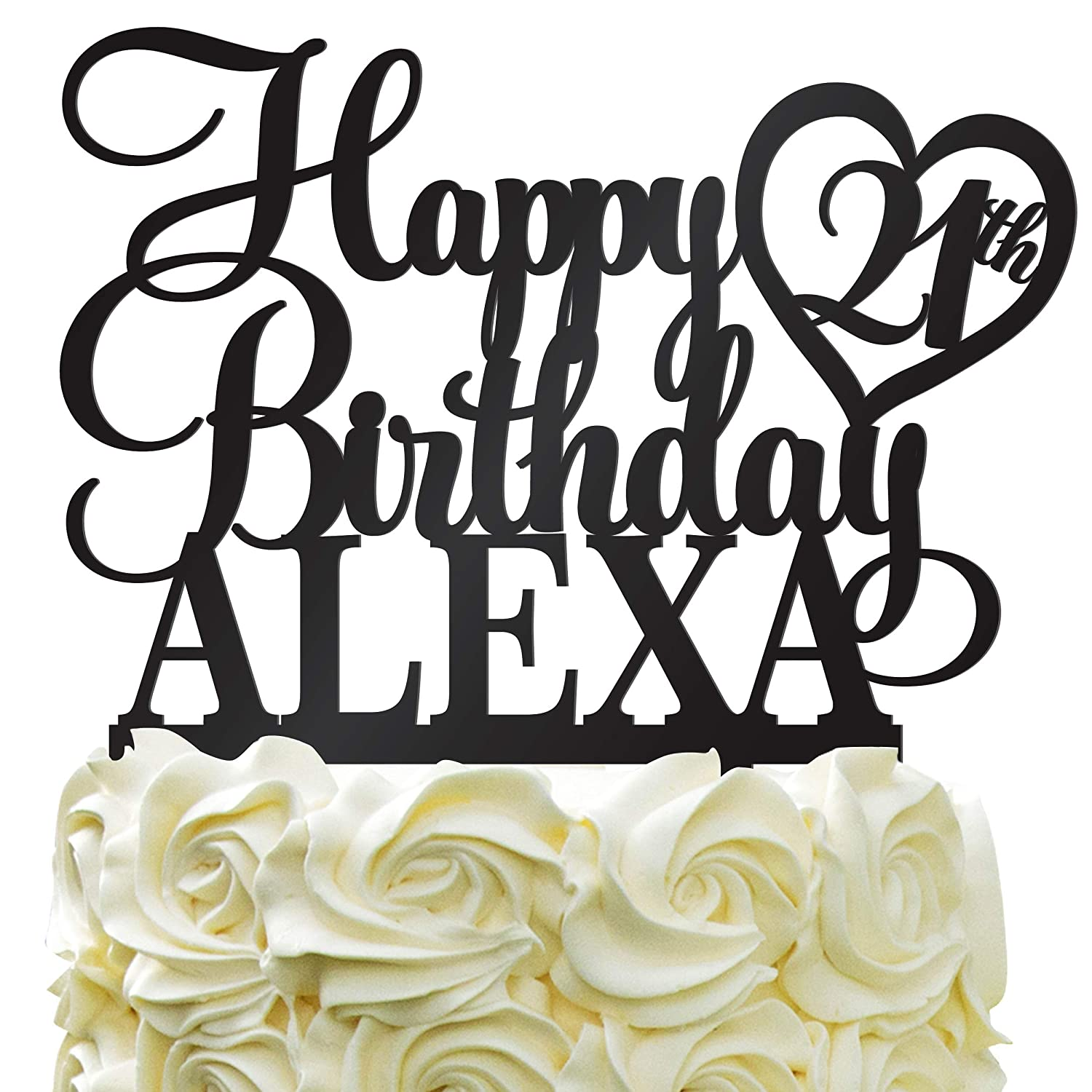 Amazing Happy Birthday Customize Birthday Cake Topper Personalized Name Funny Birthday Cards Online Overcheapnameinfo
