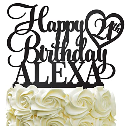 Pleasing Happy Birthday Customize Birthday Cake Topper Personalized Name Personalised Birthday Cards Cominlily Jamesorg