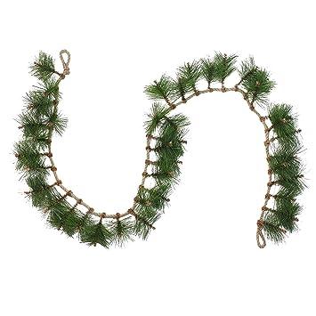 Amazon Com 6 Long Needle Pine And Rope Rustic Christmas Garland