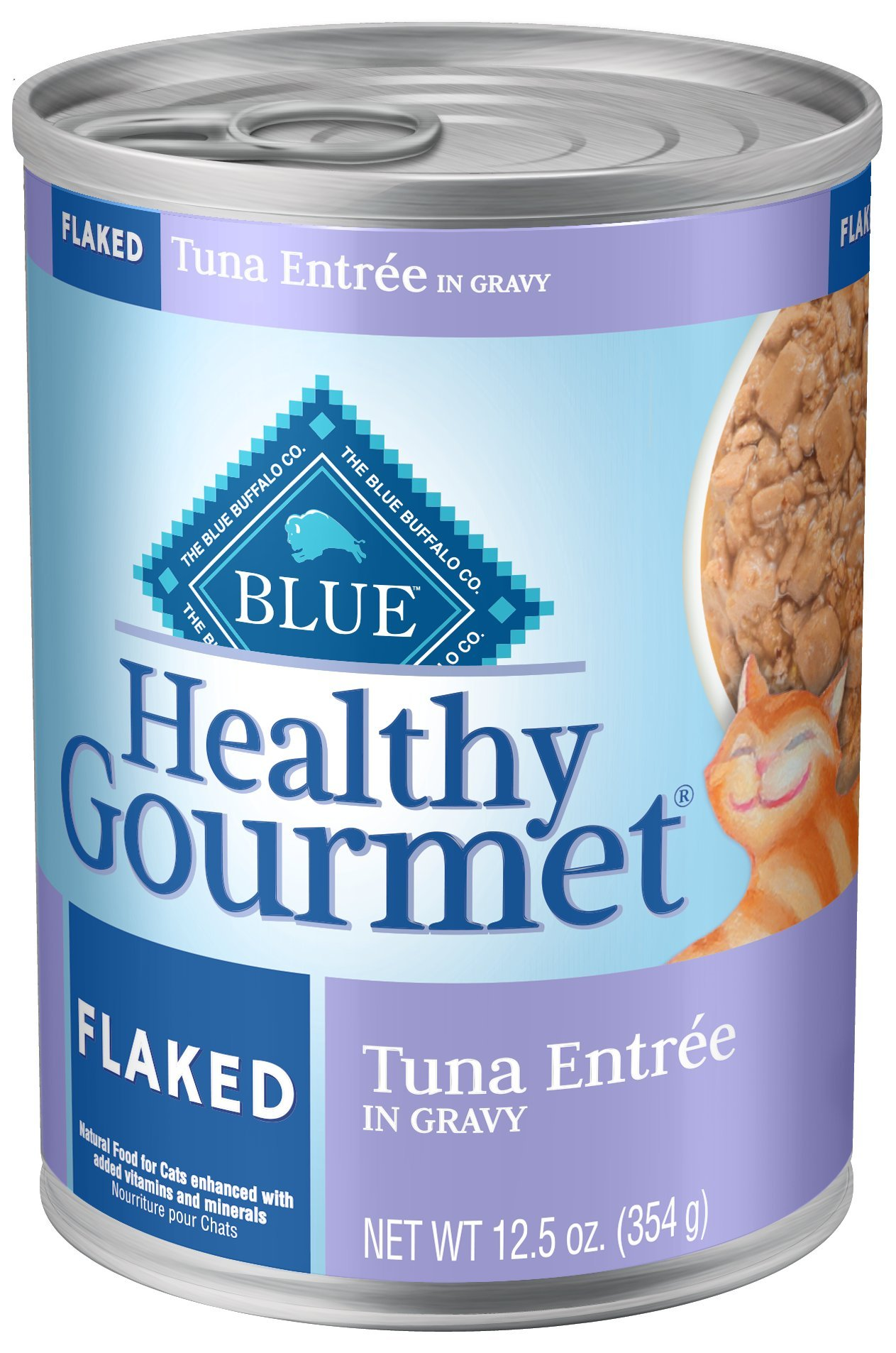 Blue Buffalo Healthy Gourmet Natural Adult FlakedWet Cat Food, Tuna 12.5-oz cans (Pack of 12) by Blue Buffalo