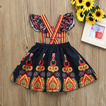 ab1de8b6b Amazon.com  Exotic Dress for Little Girl Franterd Toddler Kids Baby ...