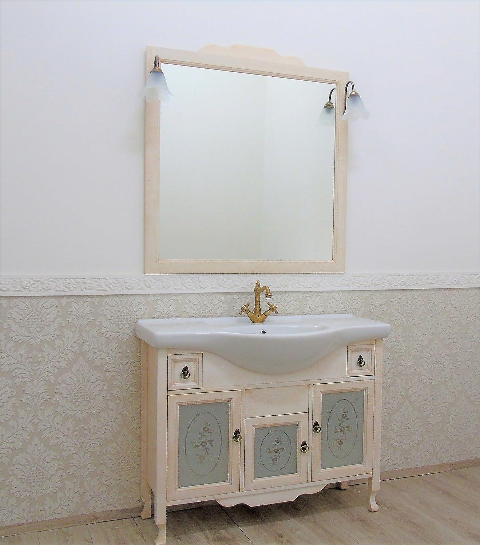 Le Chic Mobile Bagno con lavabo provenzale Shabby Avorio decape ...