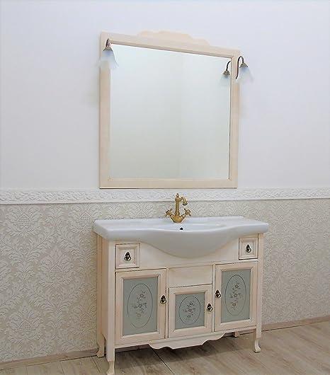 Mobile bagno con lavabo provenzale shabby avorio decape\' arredo ...