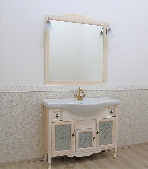mobile bagno con lavabo provenzale shabby avorio decape' arredo ... - Arredo Bagno Legno