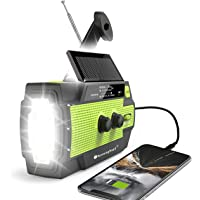 $39 » 【2020 Newest】RunningSnail Emergency Crank Radio,4000mAh-Solar Hand Crank Portable AM…
