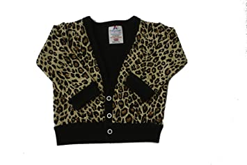398cfc21c9b6 BabywearUK Leopard print Baby Cardigan - 6 12months - British made ...