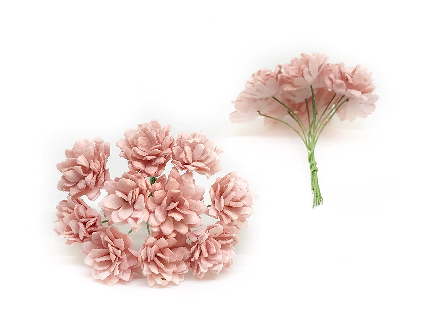 2cm Light Pink Blush Paper Flowers Babys Breath Artificial Flowers