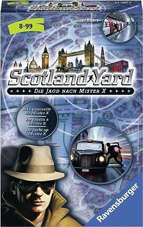Ravensburger - Juego de Estrategia Scotland Yard, 2 a 4 Jugadores (233816) (versión en alemán): Amazon.es: Juguetes y juegos