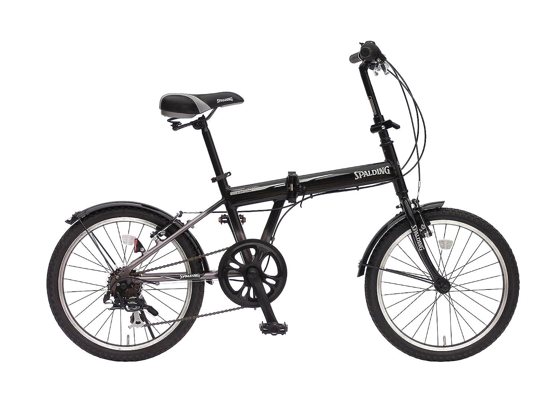 上尾工業 スポルディング折りたたみ自転車 クリアウェイ 20インチ 外装6段 ガンメタ/ブラック B00IXEMRGK