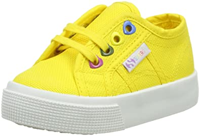 Superga 2750 JCOT Classic, Unisex-Kinder Sneaker,Gelb (176 Sunflower),32EU