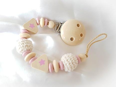 Cadena de chupete para bebé, ideal como regalo para bautizos ...
