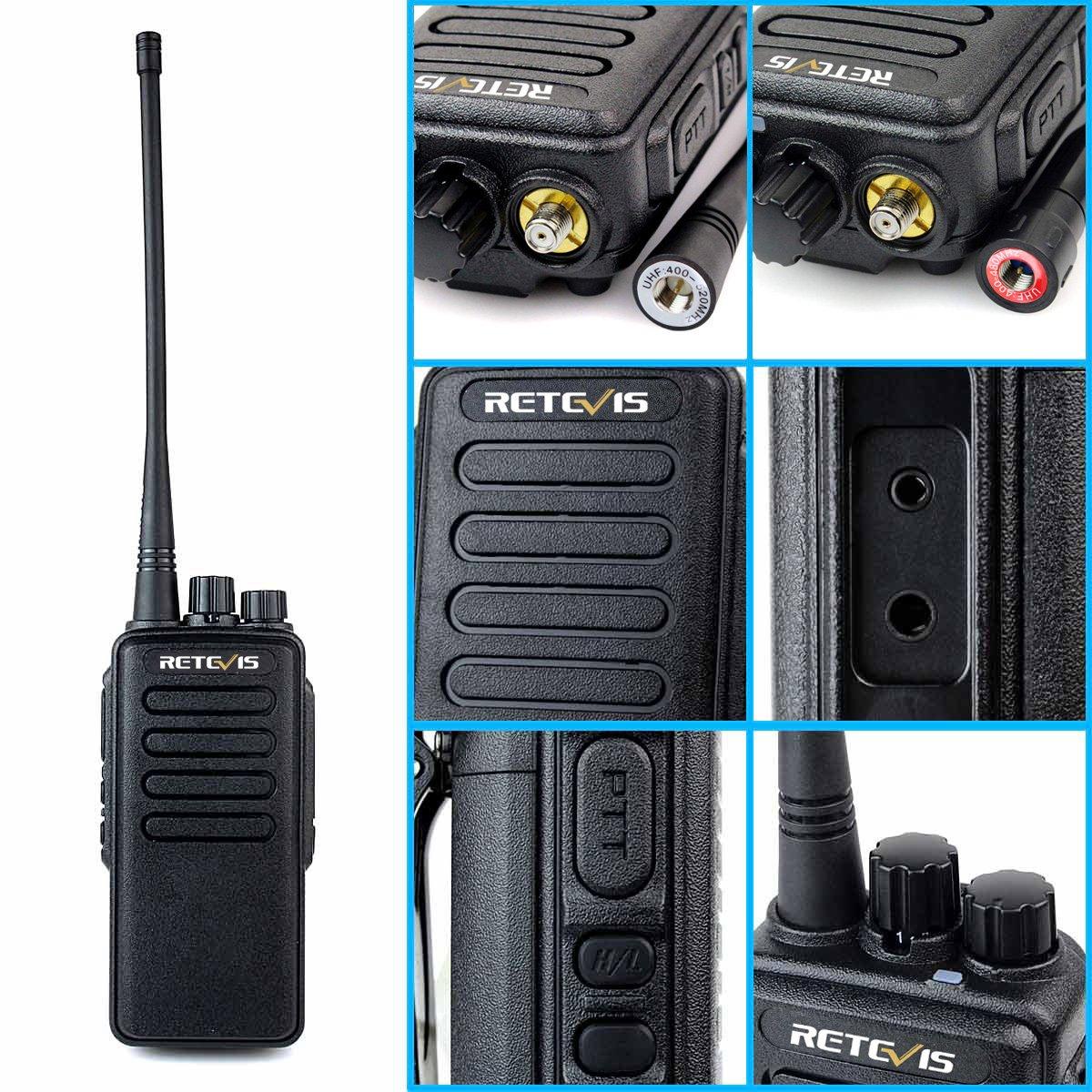 Retevis RT1 10W UHF Two Way Radio 70CM 400-520 MHz 16CH VOX Scrambler Ham radio and Speaker Mic (5 Pack) by Retevis (Image #7)