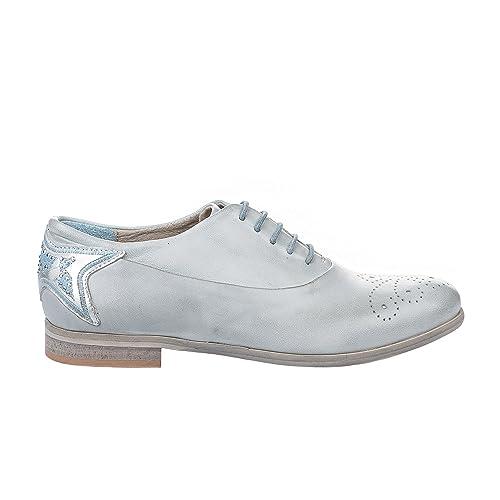 à Chaussures Bleu Gris et Femme Lacets Miglio Chaussures vgCqw7CZ