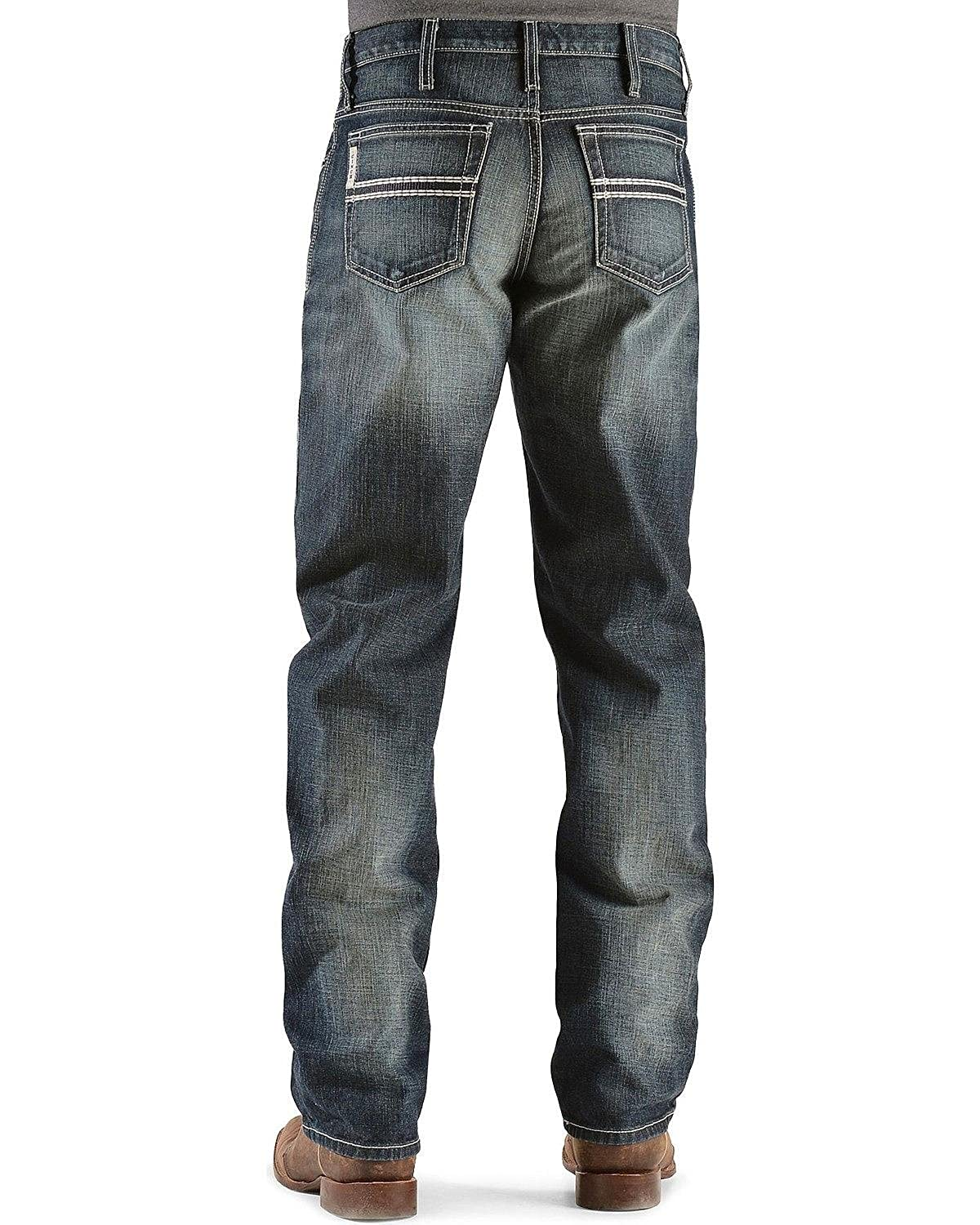 Cinch Mens White Label Relaxed Fit Mid-Rise Jeans Dark Stonewash Dark Stone 31W x 34L