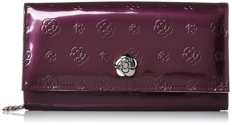 [クレイサス] フルール フラップ長財布 フルールシリーズ 5801202 B072823K78  パープル