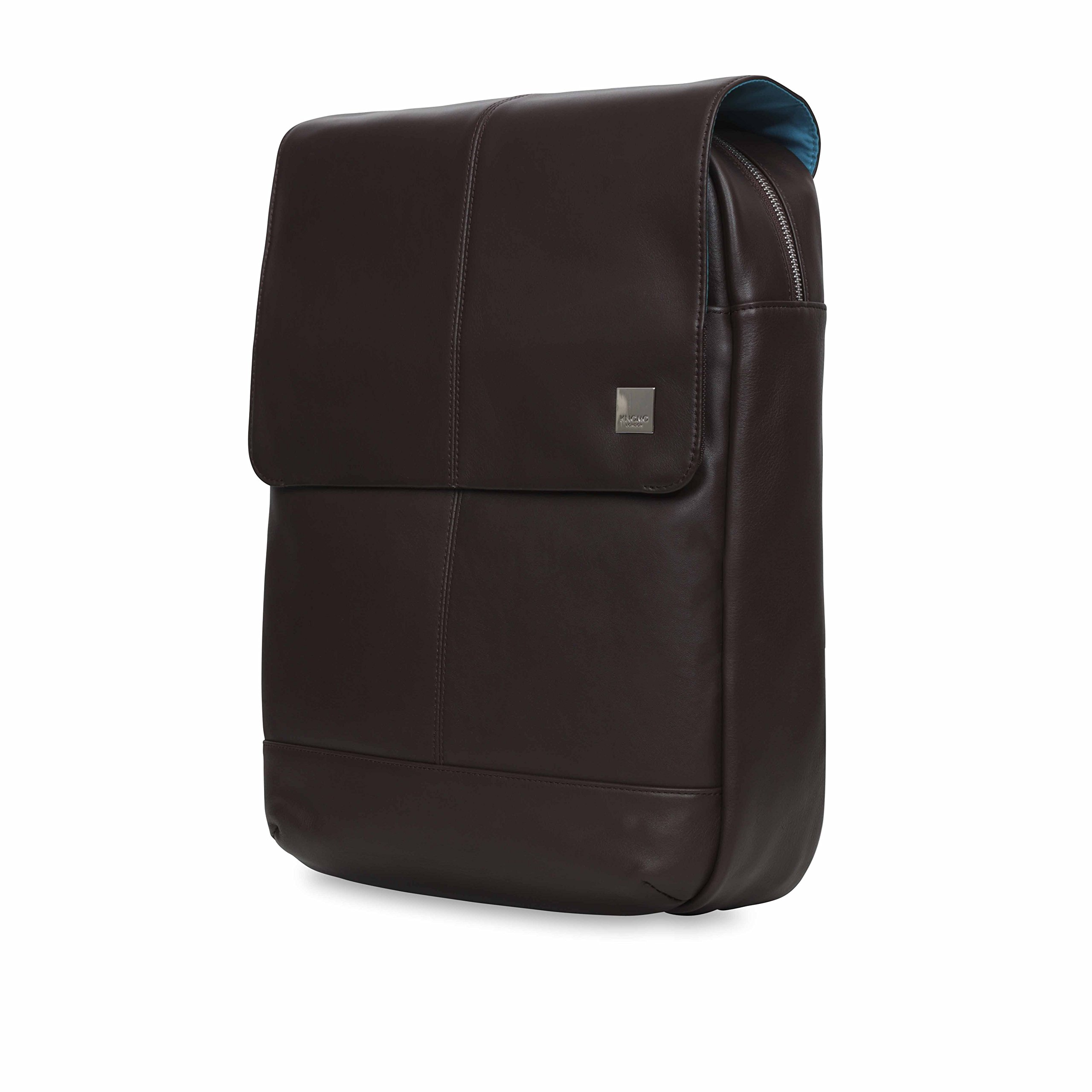 Knomo Luggage Men's Knomo Brompton Classic Hudson 15.6'' Business Backpack, Brown, One Size