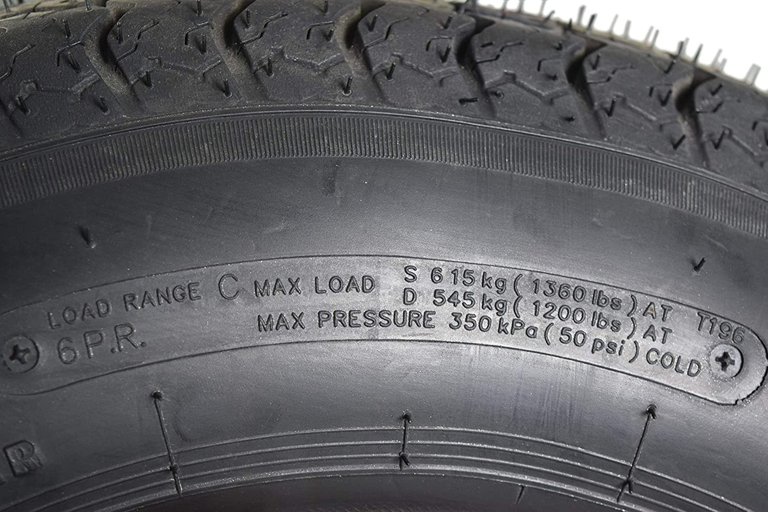 Kenda 31722002 ST175//80D13 Load Star 6 Ply Tubeless Trailer Tires 2 Pack