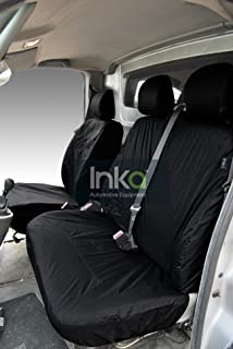 INK-WSC-5001 Isuzu Rodeo Denver Max LE Sport Fully Tailored Waterproof Rear Second Row Triple Set Seat Cover MY 01-2012; Heavy Duty Right Hand Drive Black Inka Corp