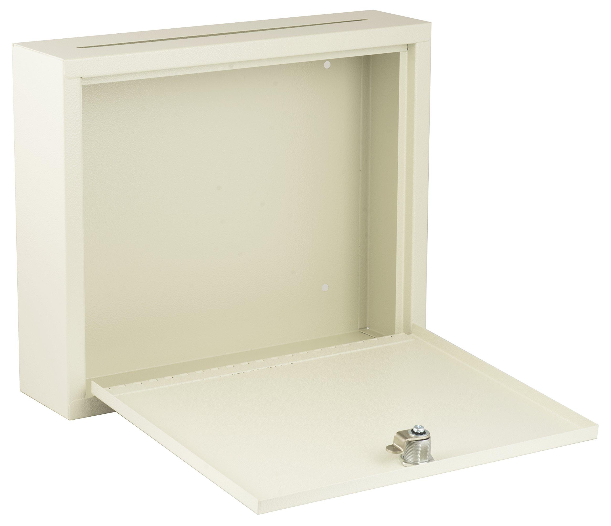 AdirOffice Multi Purpose, Mail Box, Drop Box, Suggestion Box, Wall Mountable, 3'' x 10'' x 12'' - Sand Beige by Adir Corp. (Image #2)