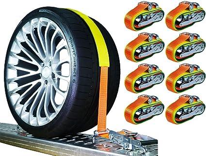 8 X 5000 Kg 50mm Spanngurte Auto Transport Pkw Auto Transport Zurrgurte Reifengurte Gurte Auto