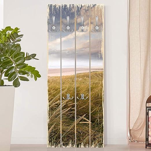 Perchero de Madera Dunes Dream, 100x40 cm incl. Ganchos Cromado: Amazon.es: Hogar