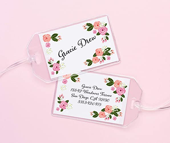 6e794e9ee51b Floral Luggage Tag, Personalized Backpack Tag, Floral diaper bag tags,  Luggage tags for girls, Luggage tag for women, Backpack tags for kids, Your  ...