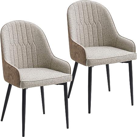 Lestarain Sillas de Comedor Dining Chairs Sillas Tapizadas Pack 2 ...
