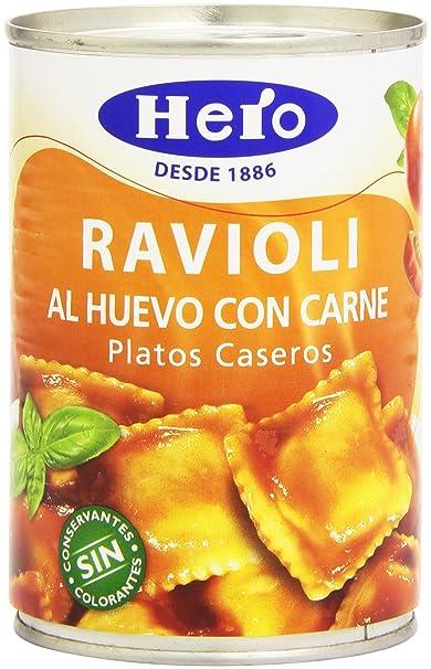 Hero - Ravioli al huevo con carne - Platos caseros - 420 g