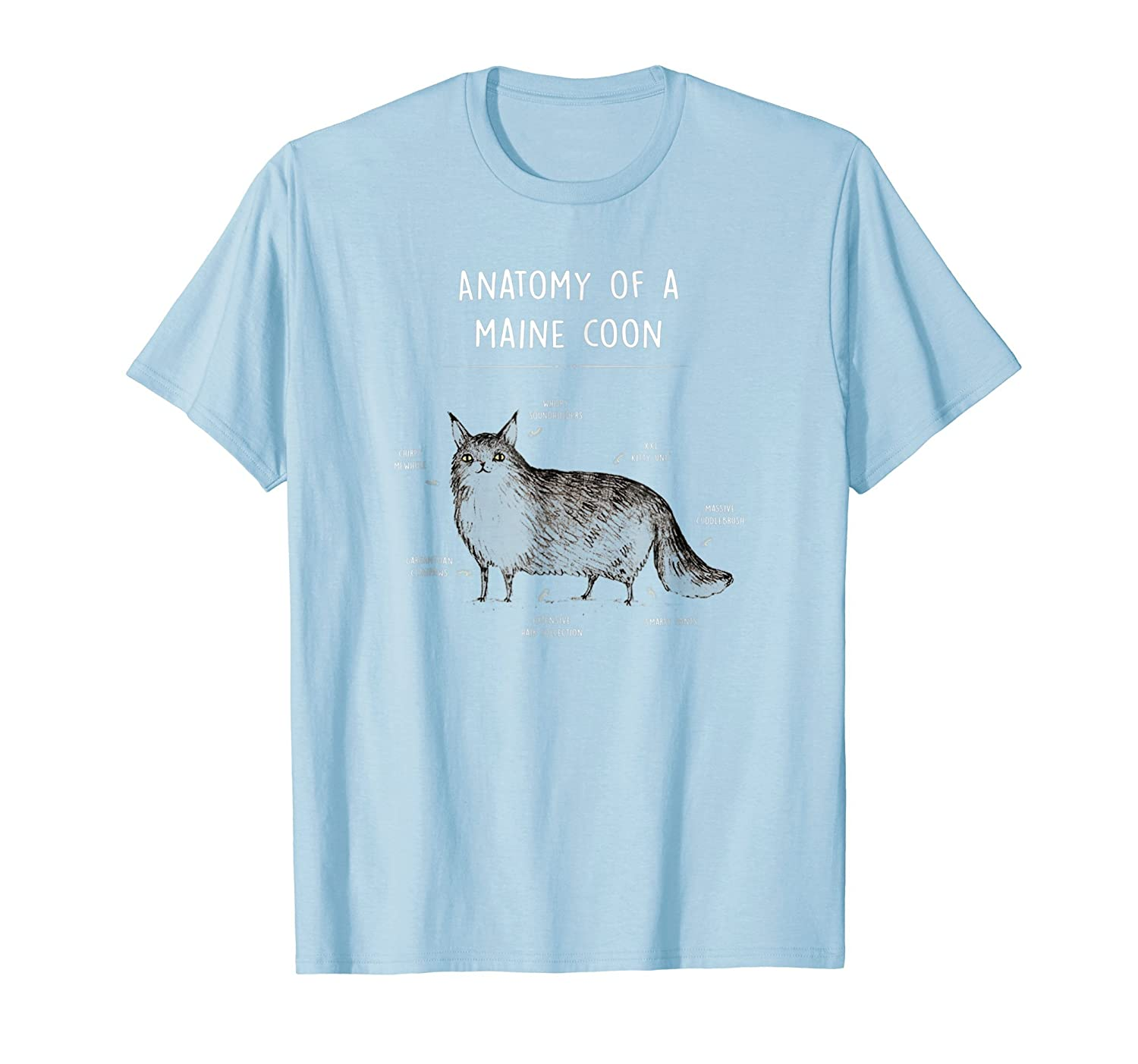 Amazon Anatomy Of A Maine Coon Shirt Funny Cat Humor Gift Clothing