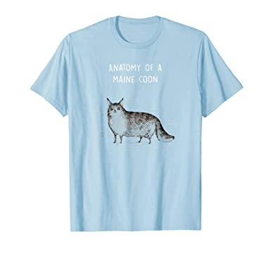 Amazon.com: Anatomy Of A Maine Coon Shirt Funny Cat Humor Gift: Clothing
