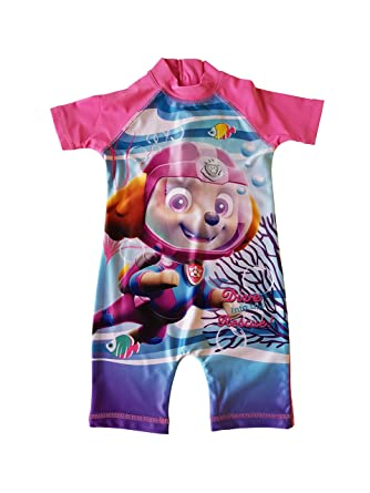 e15d0865d6fa5 Swim Sun Safe Protection UV Suit 50+ Nick Jr Paw Patrol Girls Swimming Suit  All in One: Amazon.co.uk: Clothing