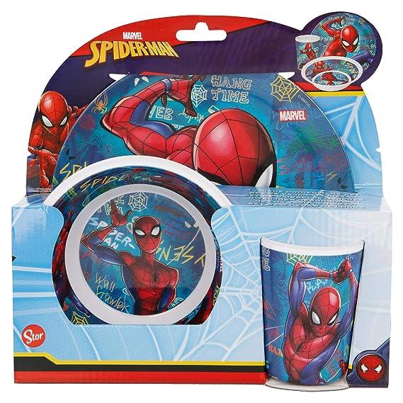 Spiderman fourchette et cuill/ère Lot de 2 couverts en plastique Marvel
