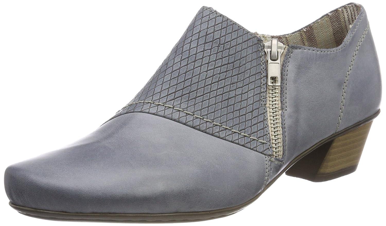Rieker 53861, Zapatos de Tacón para Mujer 36 EU|Azul (Azur)