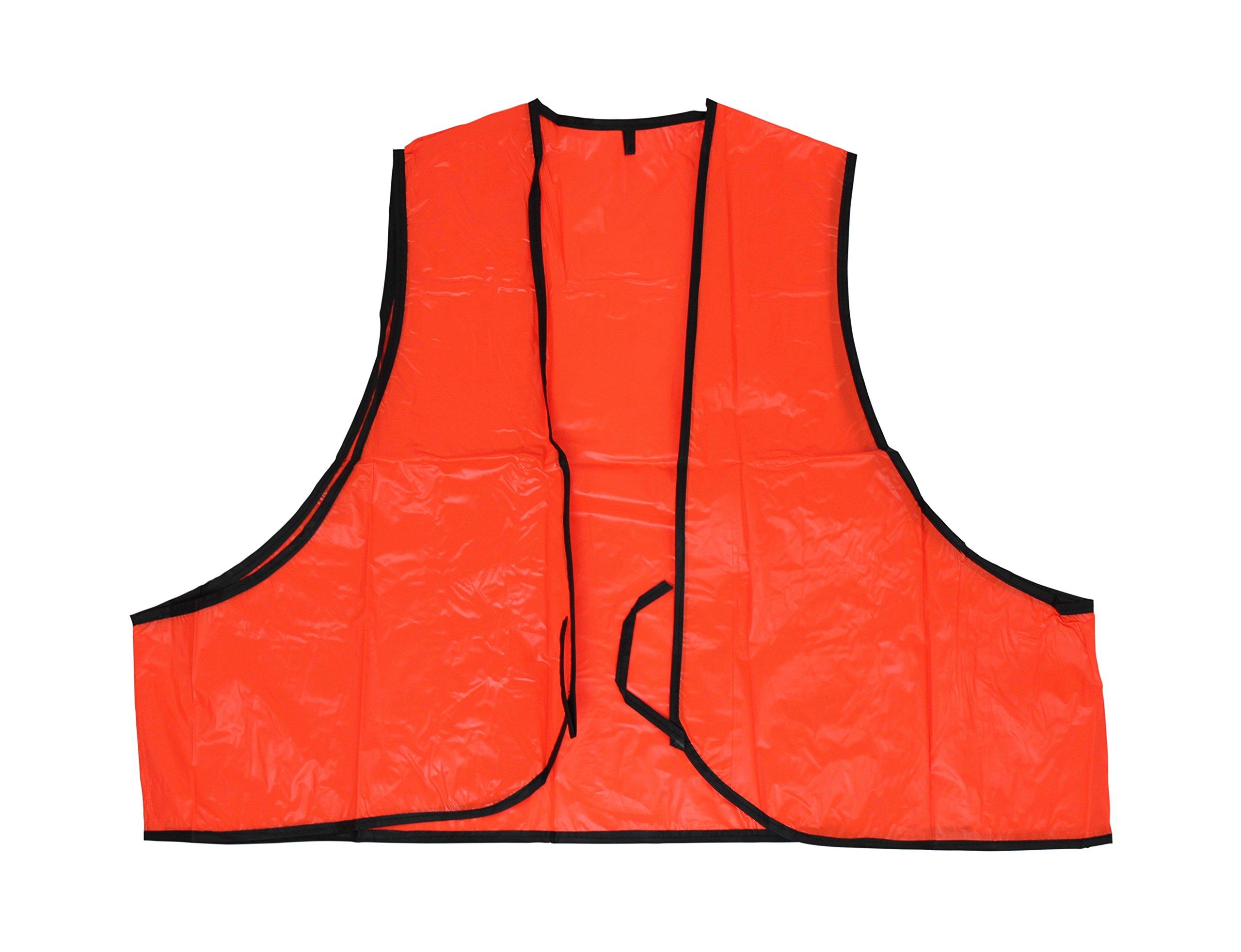 SEI Co Disposable PVC Safety Vest, Blaze Orange, 12-Pack