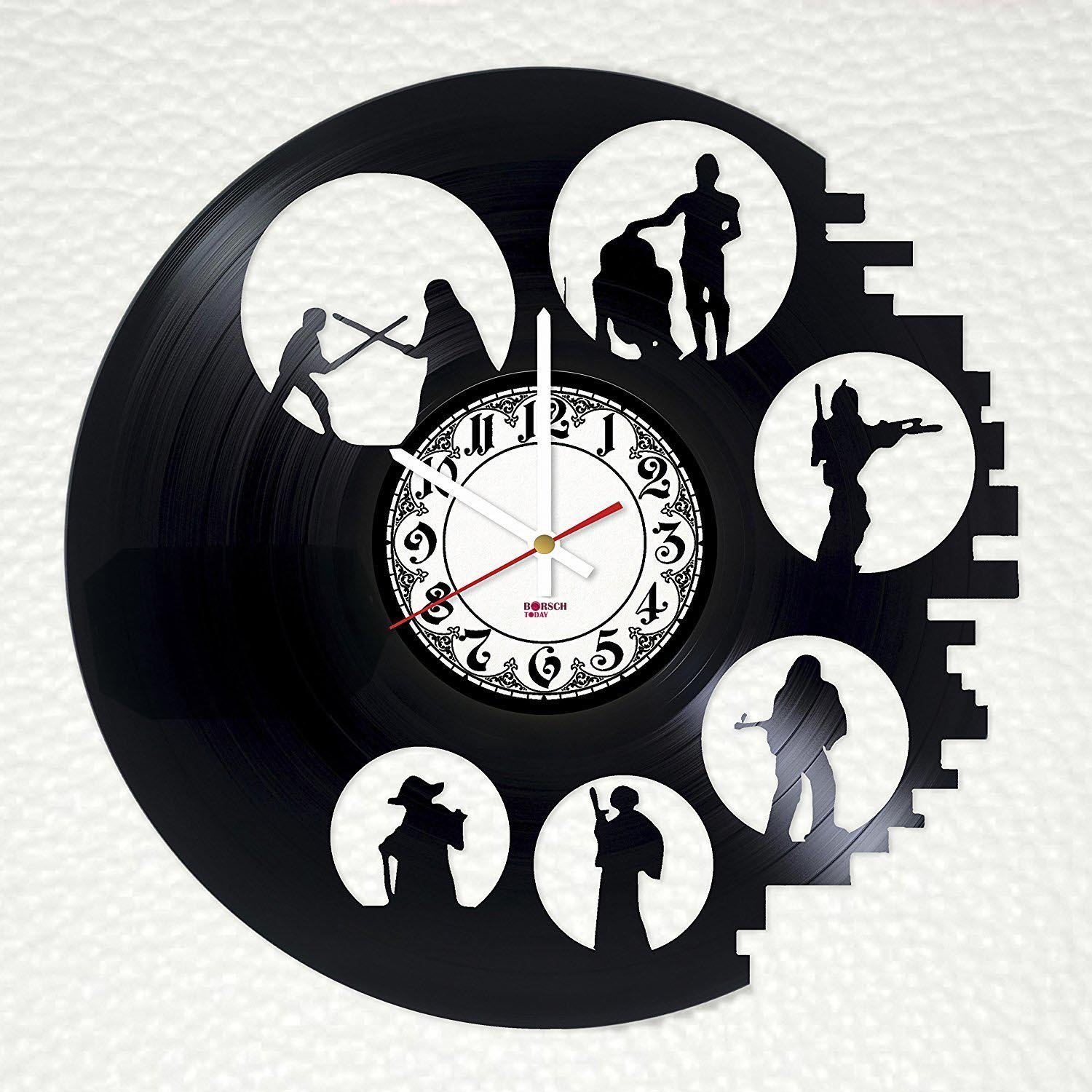 Star Wars Trilogy Handmade Vinyl Record Wall Clock - Get unique home room or office wall decor - Gift ideas for men and women – Fantasy Heroes Unique Modern Art Design