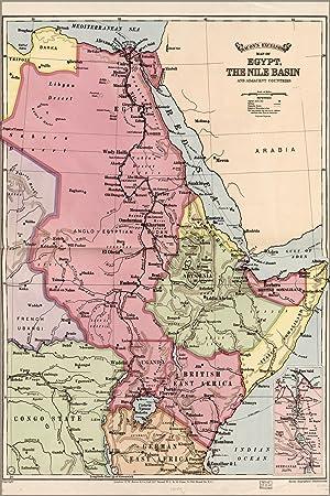 Karte ägypten Nil.Amazon De 24 X 36 Poster Karte Von ägypten Fluss Nil Waschbecken