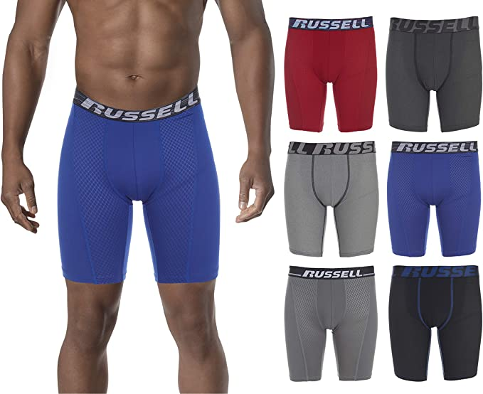 """25""""-27"""" 4-Pack Athletic Works Boy's Performance Boxer Briefs Size Large"""