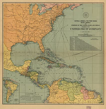 Amazon.com: Map Poster - Central America the West Indies ...